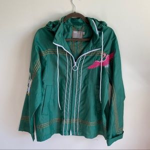 ASOS Windbreaker Jacket Green Crane Sz 8